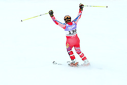 16.02.2013, Reiteralm, Pichl-Preunegg, Schladming, AUT, FIS Weltmeisterschaften Ski Alpin, Qualifikation Slalom,  Herren, 1. Durchgang, im Bild Jean-Pierre Roy (HAI) // Jean-Pierre Roy of Haiti reacts after in a his 1st run of mens Slalom Qualification Race at the FIS Ski World Championships 2013 at the Reiteralm Course, Pichl-Preunegg, Schladming, Austria on 2013/02/16. EXPA Pictures © 2013, PhotoCredit: EXPA/ Martin Huber