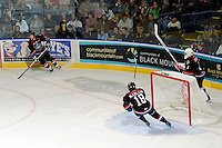 KELOWNA, CANADA, OCTOBER 11:   as the Medicine Hat Tigers visited the Kelowna Rockets on October 11, 2011 at Prospera Place in Kelowna, British Columbia, Canada (Photo by Marissa Baecker/shootthebreeze.ca) *** Local Caption ***