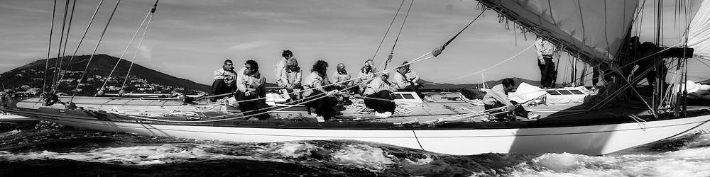 Belle Classe yachts during the voiles de St. Tropez