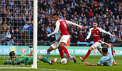 February 25, 2018 - London, England, United Kingdom - Arsenal's Pierre-Emerick Aubameyang .during Carabao Cup Final match between Arsenal against Manchester City at Wembley stadium, London  England on 25 Feb 2018. (Credit Image: © Kieran Galvin/NurPhoto via ZUMA Press)