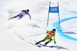 HARAUS Miroslav B2 SVK Guide: HUDIK Maros competing in ParaSkiAlpin, Para Alpine Skiing, Super G at PyeongChang2018 Winter Paralympic Games, South Korea.