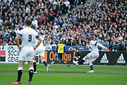 Danny Care (ENG) kicked a penalty during the NatWest 6 Nations 2018 rugby union match between France and England on March 10, 2018 at Stade de France in Saint-Denis, France - Photo Stephane Allaman / ProSportsImages / DPPI