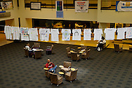 No signs of any celebrations in the Wright State University Student Union, Monday, May 2, 2011, following the death of Osama bin Laden.
