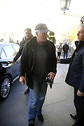MADRID, SPAIN, 2015, NOVEMBER 23 <br /> <br /> Richard Gere arrives at Madrid Airport where he is greeted by Girlfriend Alejandra Silva<br /> <br /> Richard Gere arrives at the airport of Madrid, to present today, the film Time Out of Mind, directed by Oren Moverman. His Spanish girlfriend, Alejandra Silva, came to pick him up. Alejandra Silva wore a wrist<br /> ©Exclusivepix Media