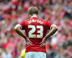 Middlesbrough's Patrick Bamford cuts  addicted figure  - Photo mandatory by-line: Joe Meredith/JMP - Mobile: 07966 386802 - 25/05/2015 - SPORT - Football - London - Wembley Stadium - Middlesbrough v Norwich - Sky Bet Championship - Play-Off Final
