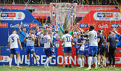 Tranmere Rovers lift the League 2 play-off trophy - Mandatory by-line: Paul Terry/JMP - 25/05/2019 - FOOTBALL - Wembley Stadium - London, England - Newport County v Tranmere Rovers - Sky Bet League Two Play-off Final