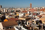 Santa Cruz old quarter houses, Alicante City, Valencia, Alicante, Europe