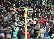 Cetic fans Poznan huddle -  Celtic v Dundee - SPFL Premiership at Celtic Park<br /> <br /> <br />  - © David Young - www.davidyoungphoto.co.uk - email: davidyoungphoto@gmail.com