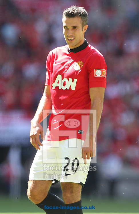 Picture by Paul Terry/Focus Images Ltd +44 7545 642257<br /> 11/08/2013<br /> Robin Van Persie of Manchester United during the FA Community Shield match at Wembley Stadium, London.