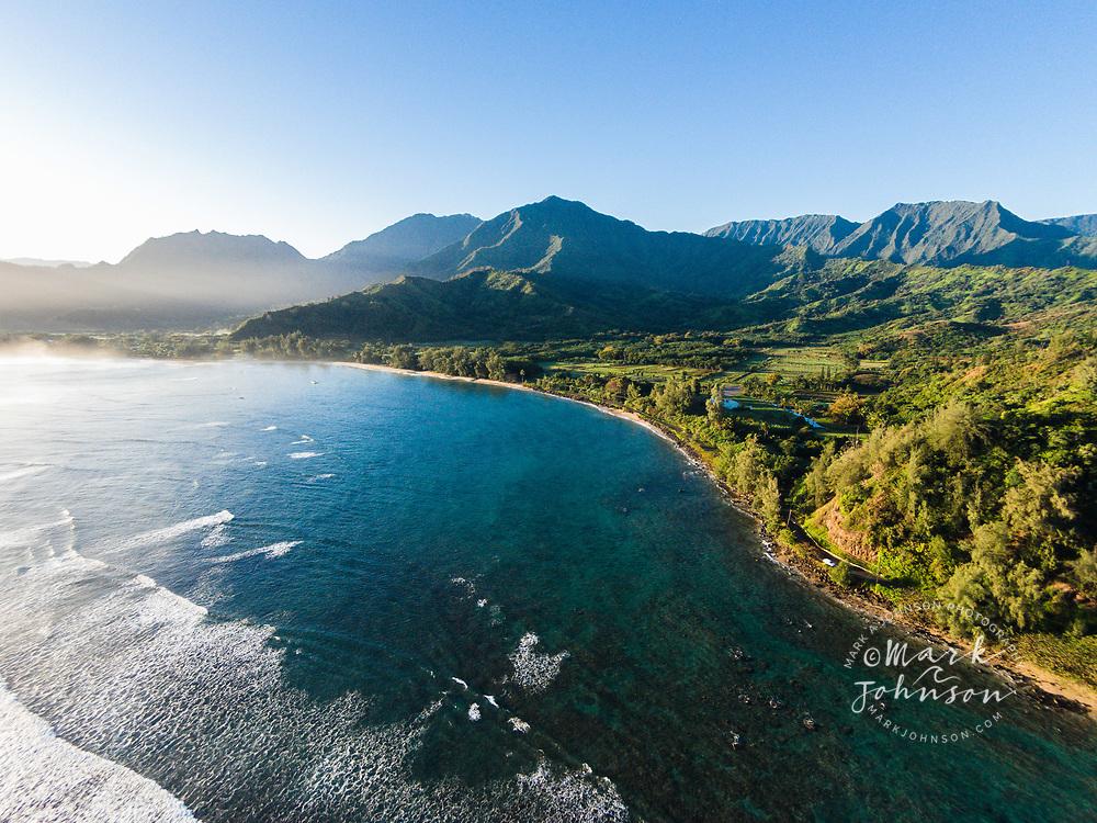 Aerial photograph of Wai Cocos, Hanalei Bay, Kauai, Hawaii
