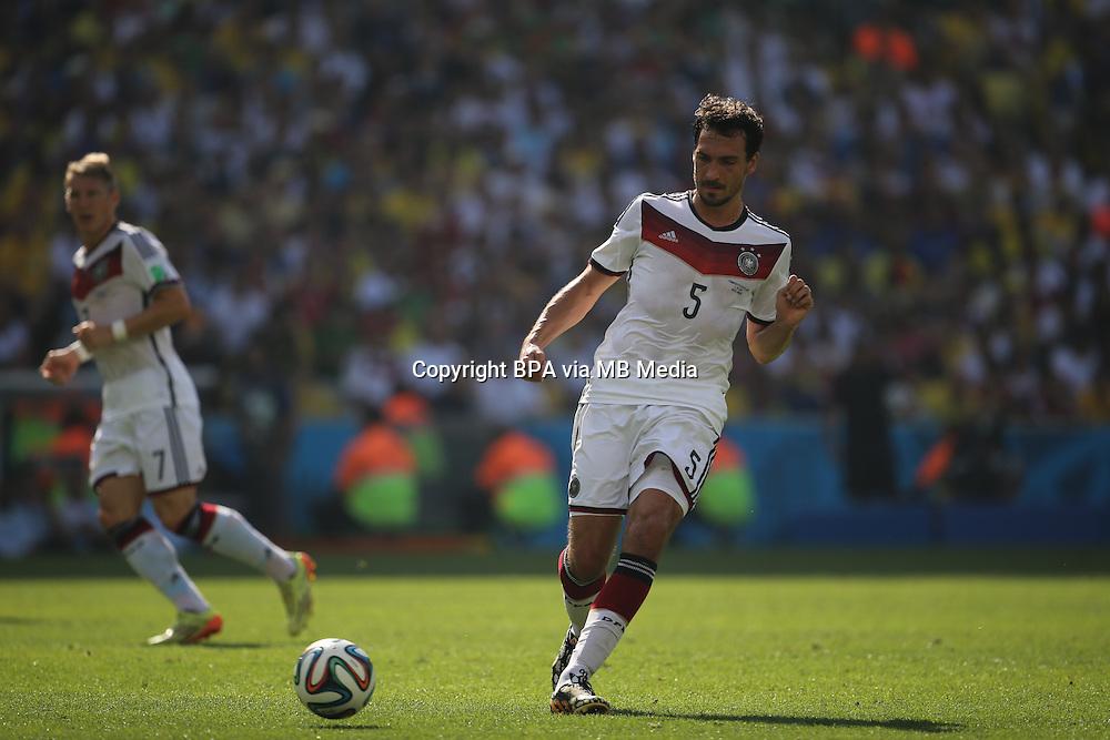 Mats Hummels. France v Germany, quarter-final. FIFA World Cup Brazil 2014. 4 July 2014