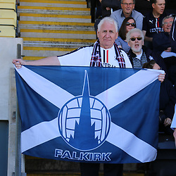 Falkirk fan  during the Dumbarton v Falkirk Scottish Championship 06 May 2017<br /> <br /> <br /> <br /> <br /> <br /> (c) Andy Scott | SportPix.org.uk