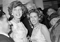 95302<br /> <br /> American President John Fitzgerald Kennedy (J.F.K.)'s visit to Ireland June 1963.<br /> President DeVaera's Garden Party at &Aacute;ras an Uachtar&aacute;in.<br /> Eunice Kennedy Shriver (JFK's sister) on left.<br /> (Part of the Independent Newspapers Ireland/NLI collection.) (Box 4)