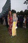 LIZZIE BOWDEN; HOLLIE BOWDEN, 2016 SERPENTINE SUMMER FUNDRAISER PARTY CO-HOSTED BY TOMMY HILFIGER. Serpentine Pavilion, Designed by Bjarke Ingels (BIG), Kensington Gardens. London. 6 July 2016