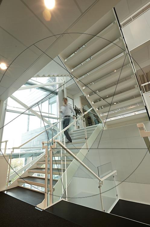 MOE Domicil i Buddinge, nybyggeri af kontorlokaler, Sophienberg Ejendomsudvikling , trappe
