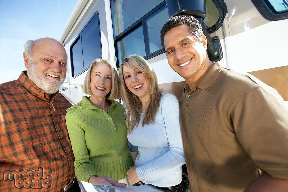 Salesperson with People Shopping for an RV