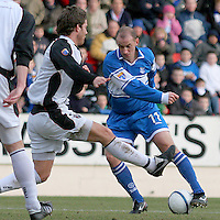 Paul Sheerin in action for St Johnstone in the Scottish First Division match against Gretna on 27th January 2007. McDiarmid Park Perth