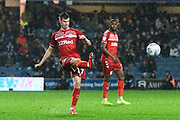 Paddy McNair (17) of Middlesbrough crosses the ball during the EFL Sky Bet Championship match between Queens Park Rangers and Middlesbrough at the Kiyan Prince Foundation Stadium, London, England on 9 November 2019.