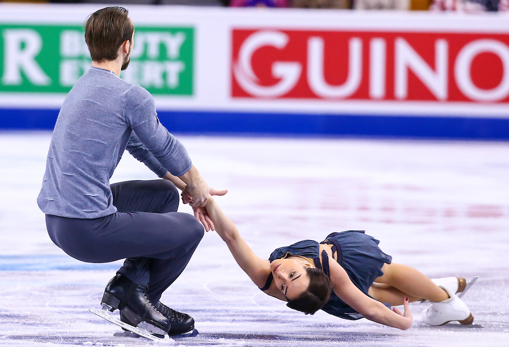 BOSTON, MA - APRIL 2: Ksenia Stolbova and Fedor Klimov of Russia compete during Day 6 of the ISU World Figure Skating Championships 2016 at TD Garden on April 2, 2016 in Boston, Massachusetts.  (Photo by Billie Weiss - ISU/ISU via Getty Images) *** Local Caption *** Ksenia Stolbova; Fedor Klimov