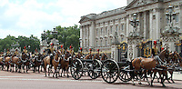 Kings Troop Royal Horse Artillery Queen's Birthday Parade Trooping The Colour, London, UK, 12 June 2010. For piQtured Sales contact: Ian@piqtured.com Tel: +44(0)791 626 2580 (Picture by Richard Goldschmidt/Piqtured)