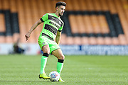 Forest Green Rovers Liam Shephard(2) during the EFL Sky Bet League 2 match between Port Vale and Forest Green Rovers at Vale Park, Burslem, England on 23 March 2019.