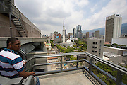 "View over Caracas from the rooftop of ""Centro Latinoamericano de Accio?n Social por la Mu?sica (Center for Social Action Through Music)"". The ""Fundacion del Estado para el Sistema Nacional de las Orquestas Juveniles e Infantiles de Venezuela"" (FESNOJIV, National Network of Youth and Children Orchestras of Venezuela), also known as El Sistema, is a publicly financed private-sector music-education program in Venezuela, originally called Social Action for Music, founded 1975 by Venezuelan economist and amateur musician Jose? Antonio Abreu."