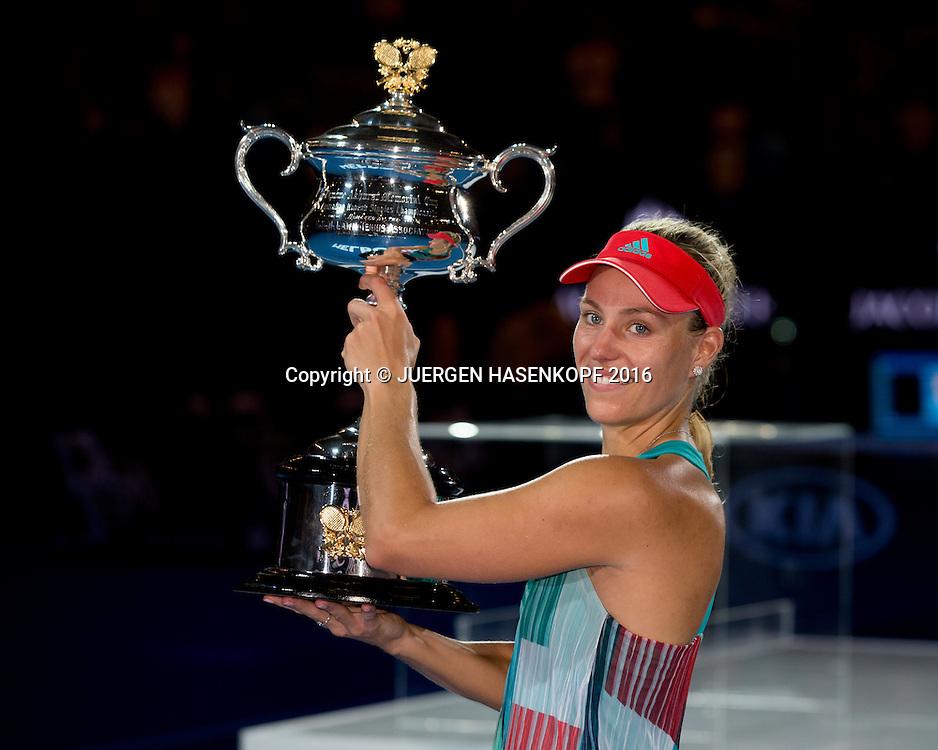 Angelique Kerber, Australian Open 2016<br /> <br /> Tennis - Australian Open 2016 - Grand Slam ITF / ATP / WTA -  Melbourne Park - Melbourne - Victoria - Australia  - 30 January 2016.