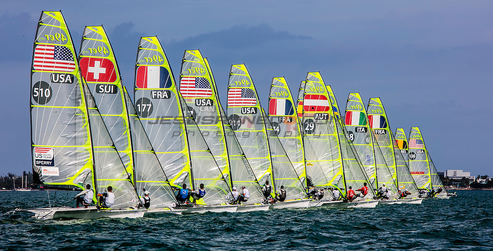 The first stop of World Sailing's 2017 World Cup Series will see over 450 competitors race across the ten Olympic classes from Regatta Park at Coconut Grove, Miami from 24 – 29 January. Image free of editorial rights @Jesus Renedo / Sailing Energy / World Sailing