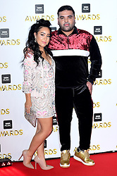 Kyla and Naughty Boy attending the BBC Music Awards at the Royal Victoria Dock, London.