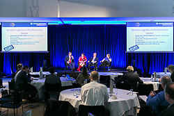 Ms Helen Newell (Session Chair), Mr Ian Lynass,  Ms Kirsten Molloy,  Mr David Irwin. Day 2. ALC Forum 2014. Australian Logistics Council. Royal Randwick Racecourse. Sydney. Photo: Pat Brunet/Event Photos Australia