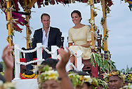 "CATHERINE, DUCHESS OF CAMBRIDGE AND PRINCE WILLIAM.seated in chairs are carried on the shoulders of local men and women on arrival at Funafuti, Tuvalu_18/09/2012.Mandatory credit photo: ©DIASIMAGES/NEWSPIX INTERNATIONAL..(Failure to credit will incur a surcharge of 100% of reproduction fees)..                **ALL FEES PAYABLE TO: ""NEWSPIX INTERNATIONAL""**..IMMEDIATE CONFIRMATION OF USAGE REQUIRED:.DiasImages, 31a Chinnery Hill, Bishop's Stortford, ENGLAND CM23 3PS.Tel:+441279 324672  ; Fax: +441279656877.Mobile:  07775681153.e-mail: info@newspixinternational.co.uk"
