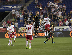 September 27, 2017 - Harrison, New Jersey, United States - Kemar Lawrence (92) of Red Bulls & Patrick Mullins  (Credit Image: © Lev Radin/Pacific Press via ZUMA Wire)