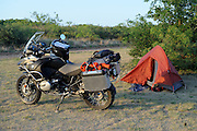 2009 BMW R1200GS Adventure motorcycle camping in west Texas