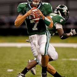Sep 12, 2009; New Orleans, LA, USA; Tulane Green Wave quarterback Joe Kemp (7) before a game against the BYU Cougars at the Louisiana Superdome.  BYU defeated Tulane 54-3. Mandatory Credit: Derick E. Hingle-US PRESSWIRE