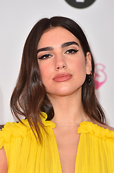 Dua Lipa attending the BBC Radio 1 Teen Wards, at Wembley Arena, London. Picture date: Sunday October 22nd, 2017. Photo credit should read: Matt Crossick/ EMPICS Entertainment.