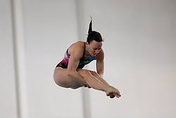 Eventual Winner Rebecca Gallantree of of City of Leeds Diving Club competes in the Womens 3m Springboard Final - Photo mandatory by-line: Rogan Thomson/JMP - 07966 386802 - 22/02/2015 - SPORT - DIVING - Plymouth Life Centre, England - Day 3 - British Gas Diving Championships 2015.