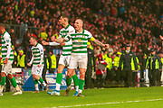 Celtic Captain Scott Brown celebrates his teams win during the Betfred Scottish League Cup Final match between Rangers and Celtic at Hampden Park, Glasgow, United Kingdom on 8 December 2019.