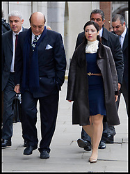 Asl Nadir and his wife Nur arriving at the Old Bailey, London, for the start of his trial today. Monday January 23, 2012. Photo by i-Images