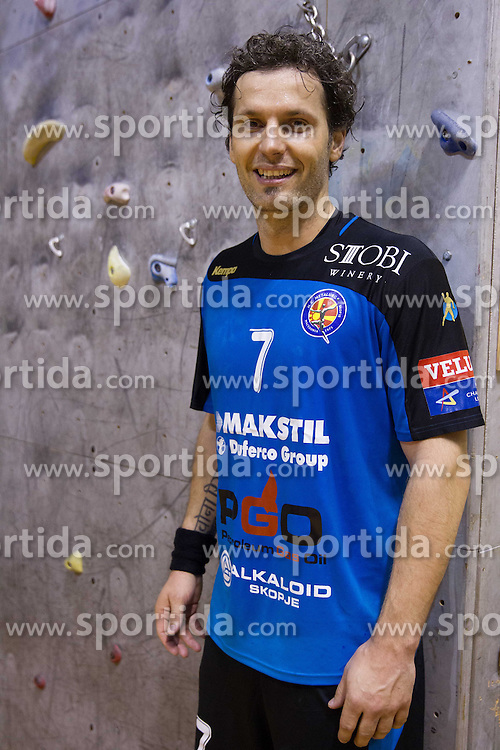 Renato Vugrinec of Metalurg after the handball match between RK Gorenje Velenje (SLO) vs RK Metalurg Skopje (MKD) in 8th Round of Group C of EHF Champions League 2012/13 on February 9, 2013 in Red hall, Velenje, Slovenia. (Photo By Vid Ponikvar / Sportida)