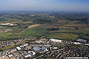 aerial photograph of White Lodge Business Park<br /> Hall Rd Norwich NR4 6DG and surrounding vicinity