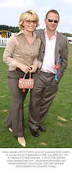 News reader KIRSTY YOUNG and her husband NICK JONES, at a polo match in Berkshire on 28th July 2002.	PCL 134
