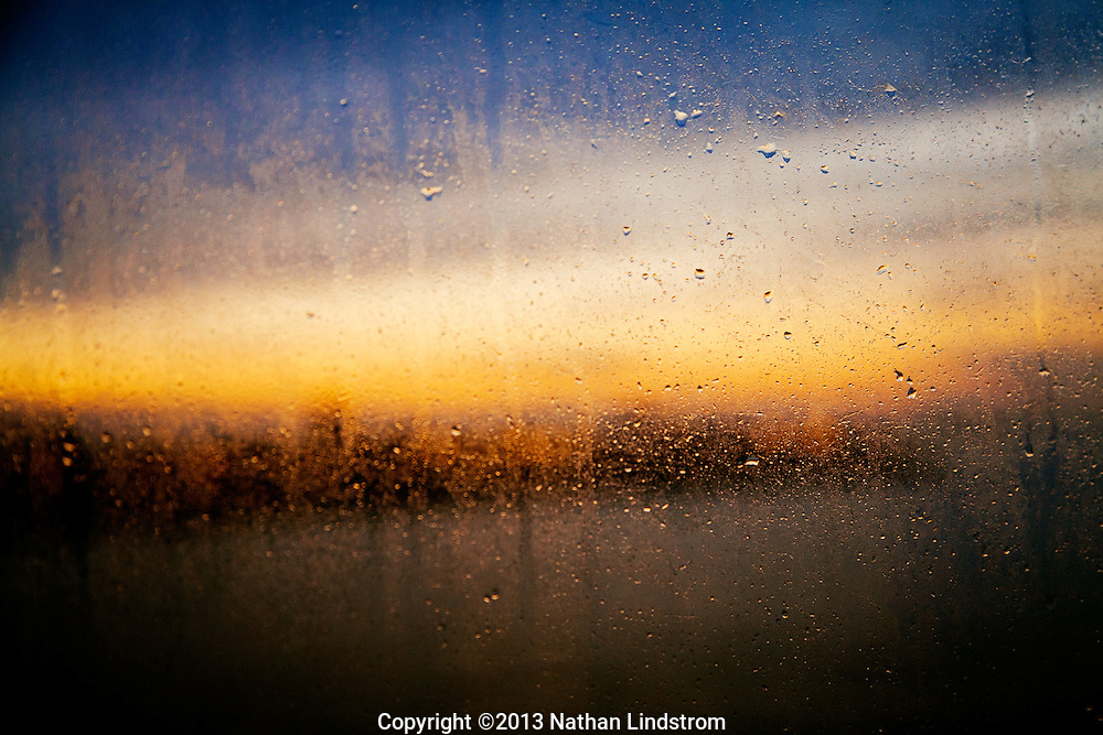 Early morning dew and sunrise in France.<br />