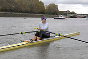 London, United Kingdom. Jessica EDDIE. Boating before the Women's Wingfield Sculls, Raced over the Championship Course,  Putney to Mortlake, Thursday  05/11/2009 [Mandatory Credit Peter Spurrier/ Intersport Images]