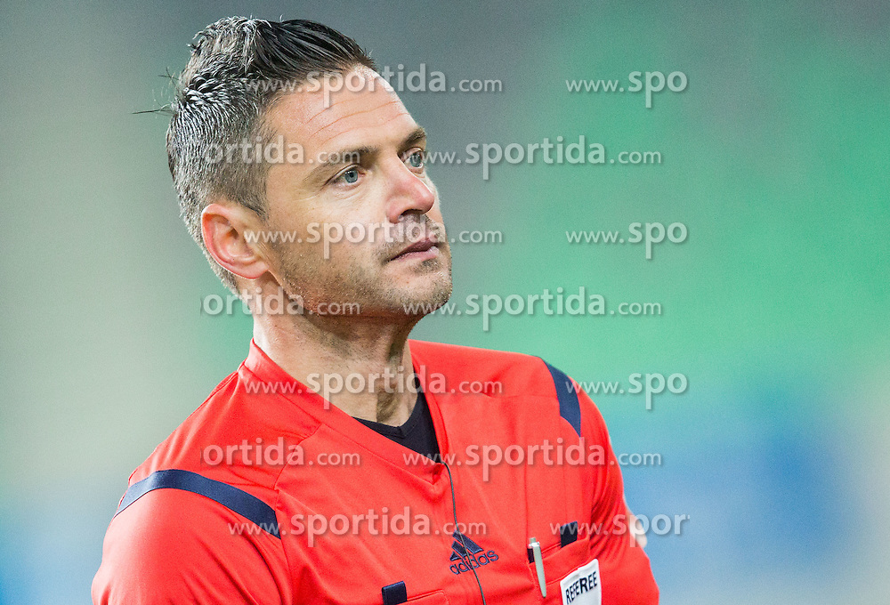 Referee Damir Skomina after the football match between NK Olimpija Ljubljana and NK Maribor in Round #26 of Prva liga Telekom Slovenije 2014/15, on April 8, 2015 in SRC Stozice, Ljubljana, Slovenia. Photo by Vid Ponikvar / Sportida