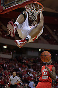 28 November 2009: Jackie Carmichael puts the ball in the hoop for a monster jam. The Redhawks of SouthEast Missouri State fall the Redbirds of Illinois State 93-53 on Doug Collins Court inside Redbird Arena in Normal Illinois.