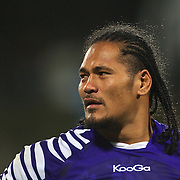 Alesana Tuilagi, Samoa, during the South Africa V Samoa, Pool D match during the IRB Rugby World Cup tournament. North Harbour Stadium, Auckland, New Zealand, 30th September 2011. Photo Tim Clayton...