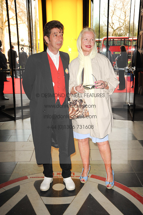 JIBBY BEAN and DUGGIE FIELDS at the opening of the Victoria & Albert Museum's latest exhibition 'Grace Kelly: Style Icon' opened by His Serene Highness Prince Albert of Monaco at the V&A on 15th April 2010.