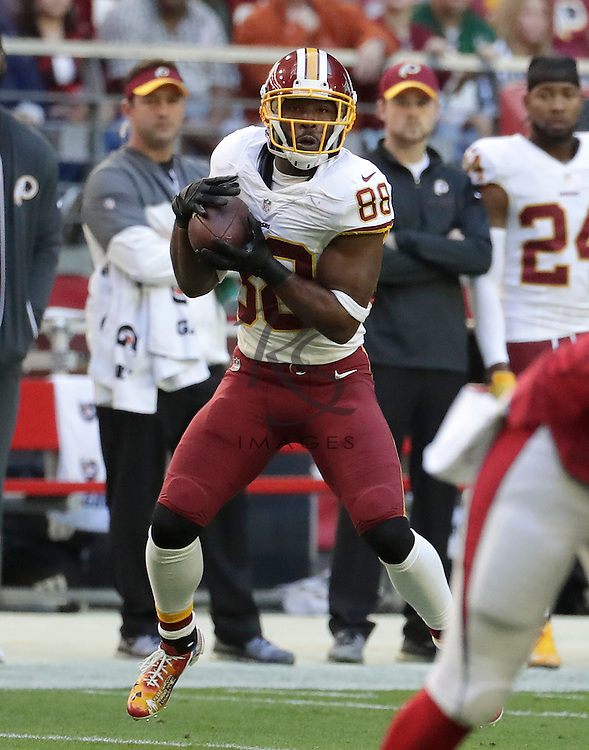 Washington Redskins wide receiver Pierre Garcon (88) during an NFL football game against the Arizona Cardinals, Sunday, Dec. 4, 2016, in Glendale, Ariz. (AP Photo/Rick Scuteri)