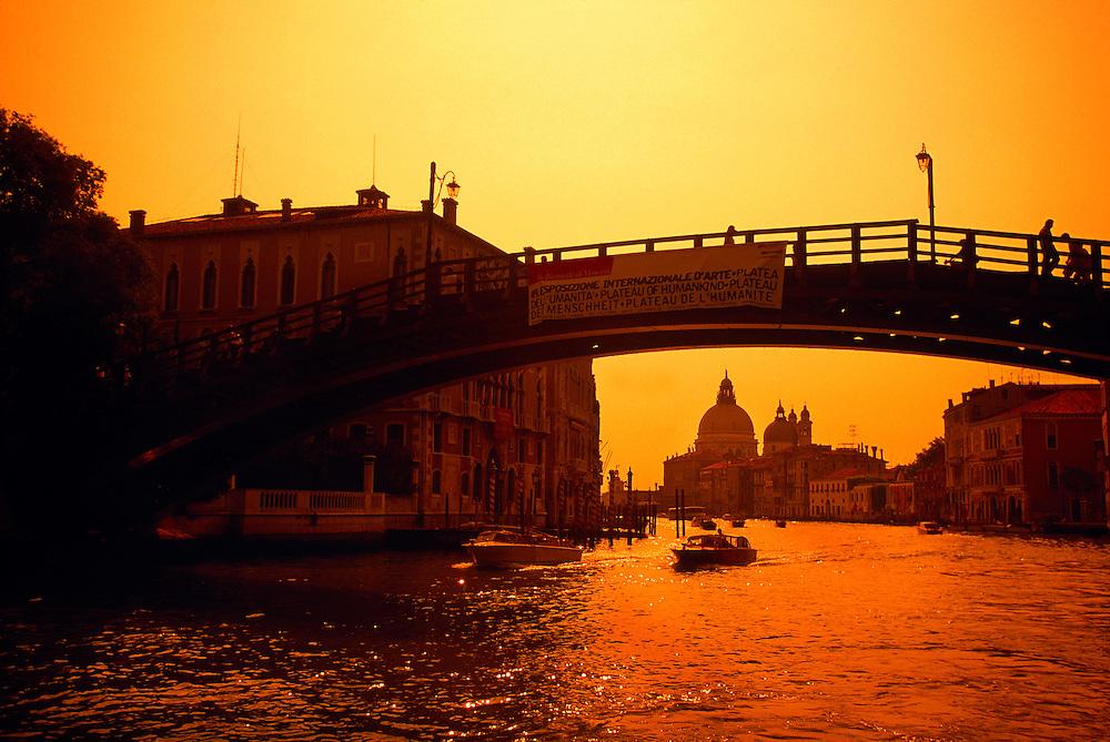 Ponte dell'Accademia (bridge), The Grand Canal, Venice, Italy