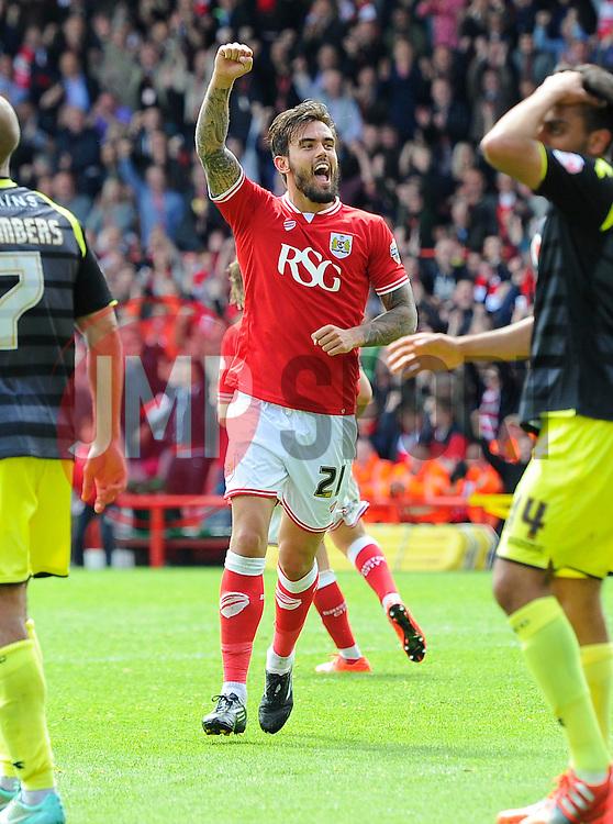 Bristol City's Marlon Pack celebrates his goal  - Photo mandatory by-line: Joe Meredith/JMP - Mobile: 07966 386802 - 03/05/2015 - SPORT - Football - Bristol - Ashton Gate - Bristol City v Walsall - Sky Bet League One
